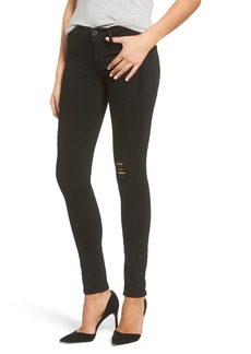 Hudson Jeans Krista Distressed Super Skinny Jeans (Semi Sweet)
