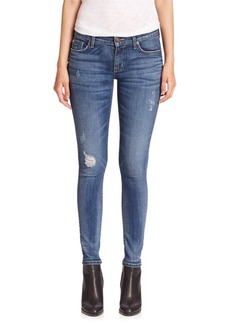 Hudson Jeans Krista Slight Distressed Super Skinny Jeans