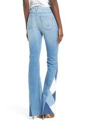 Hudson Jeans Laurel Patchwork Flare Jeans (Radio Silence)