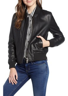 Hudson Jeans Leather Bomber Jacket