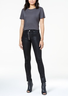 Hudson Jeans Lexi Exposed-Zip Coated Skinny Jeans
