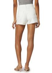 Hudson Jeans Lori High Waist Cutoff Denim Shorts (Destructed White)