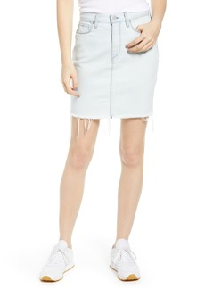 Hudson Jeans Lulu Raw Hem Denim Skirt