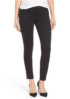 Hudson Jeans 'Luna' Ankle Star Stud Skinny Jeans (Noir Star)
