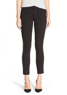 Hudson Jeans 'Luna' Super Skinny Crop Jeans (Black)
