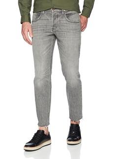 Hudson Jeans Men's Blake Slim Straight Cropped Raw Hem Jeans