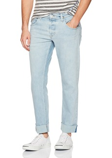 Hudson Jeans Men's Blake Slim Straight Cropped Selvedge Jeans with Cuff
