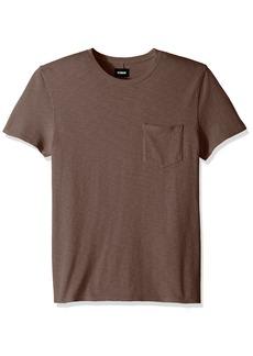 Hudson Jeans Men's Crewneck Pocket Tee Shirt  LG