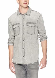 Hudson Jeans Men's Denim Long Sleeve Shirt  SM