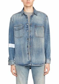 Hudson Jeans Men's Oversized Denim Workshirt  SM