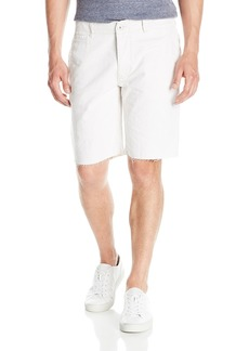 Hudson Jeans Men's River Raw Hem Linen Chino Short