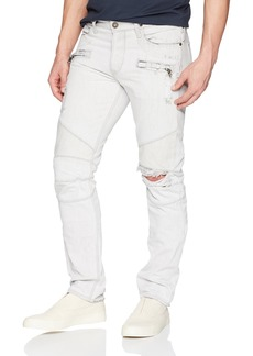 Hudson Jeans Men's The Blinder Biker EXTRACTED White