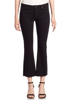 Hudson Jeans Mia Black Cropped Flare Jeans