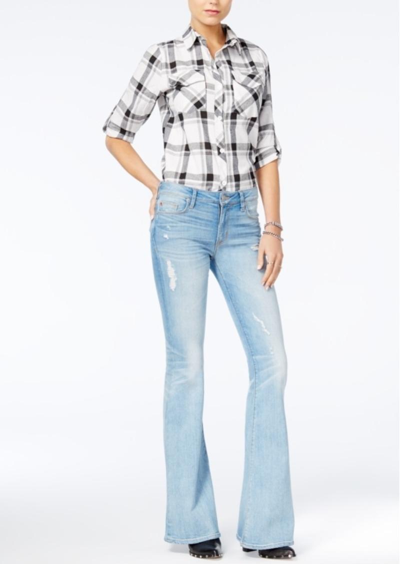 Hudson Jeans Mia Cotton Ripped Flare-Leg Jeans