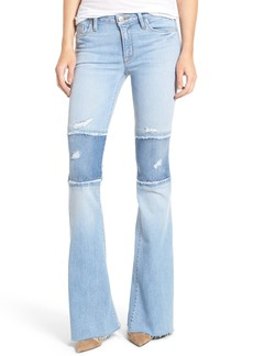 Hudson Jeans Mia Patchwork Flare Jeans (Royal Delta)