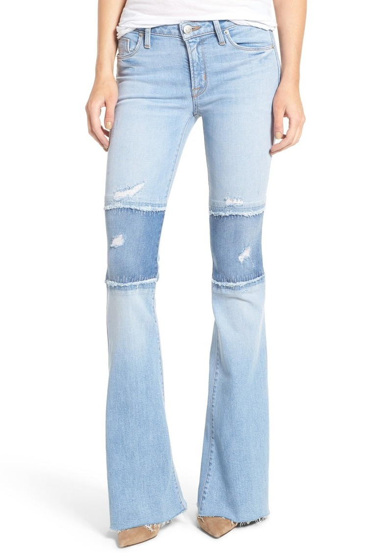 Hudson Jeans Hudson Jeans Mia Patchwork Flare Jeans (Royal Delta ...