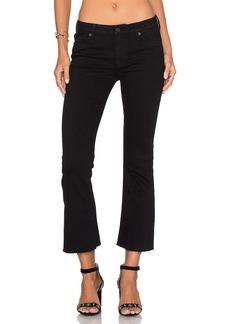 Hudson Jeans Mid Rise Crop Unfinished Hem Flare