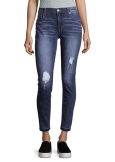 Hudson Mid-Rise Distressed Ankle Jeans