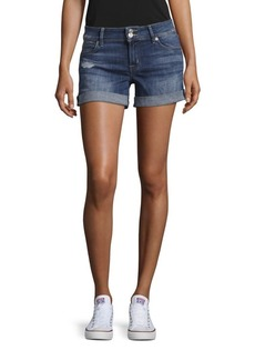 Hudson Jeans Mid-Thigh Denim Shorts