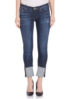 Hudson Jeans Muse Rolled Cropped Jeans