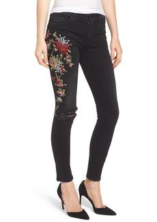 Hudson Jeans Nico Ankle Skinny Jeans (Noir Floret)