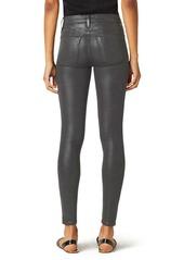 Hudson Jeans Nico Coated Mid Rise Ankle Skinny Jeans (High Shine Dark Slate)