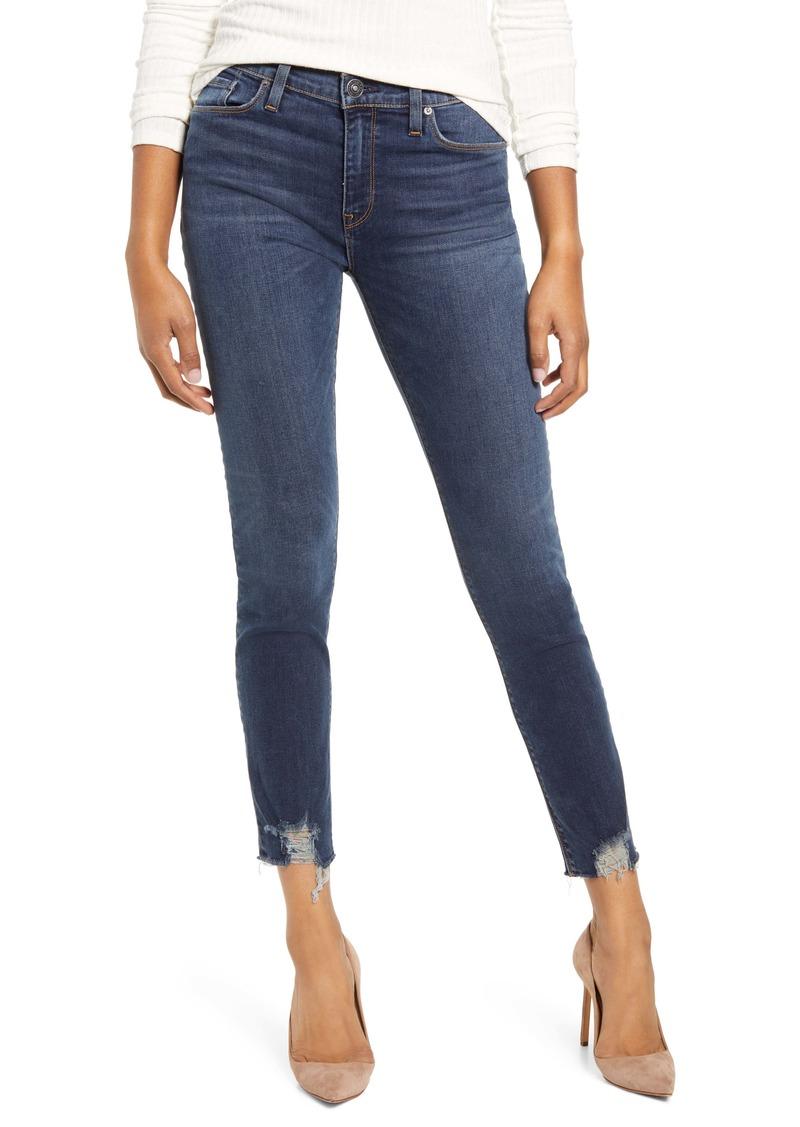 Hudson Jeans Nico High Waist Chewed Hem Ankle Skinny Jeans (Gambit)