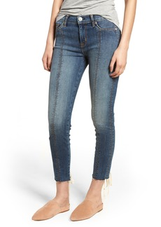 Hudson Jeans Nico Lace-Up Crop Skinny Jeans (Unfamed)