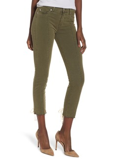 Hudson Jeans Nico Lace-Up Crop Super Skinny Jeans (Crushed Olive)