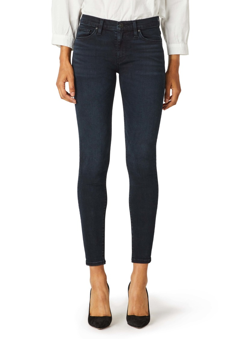 Hudson Jeans Nico Mid Rise Ankle Skinny Jeans (Inked Pitch)