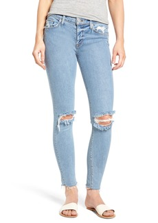 Hudson Jeans Nico Raw Hem Ankle Super Skinny Jeans (Element)
