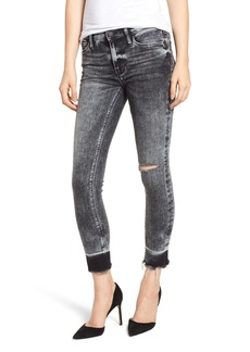 Hudson Jeans Nico Raw Hem Crop Super Skinny Jeans (Pepper)