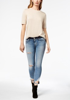 Hudson Jeans Nico Ripped Cropped Super Skinny Jeans