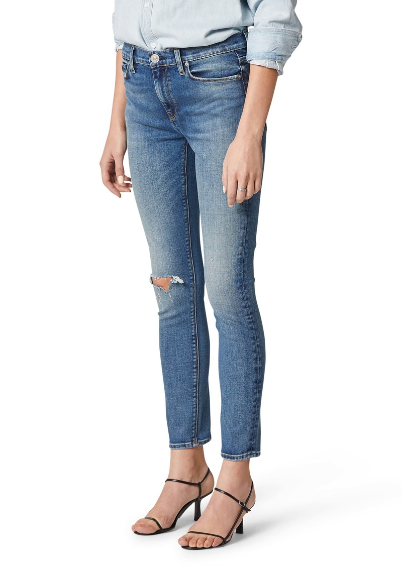 Hudson Jeans Nico Ripped Mid Rise Ankle Skinny Jeans (Crave)