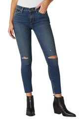 Hudson Jeans Nico Ripped Mid Rise Ankle Skinny Jeans (Worn Shakedown)
