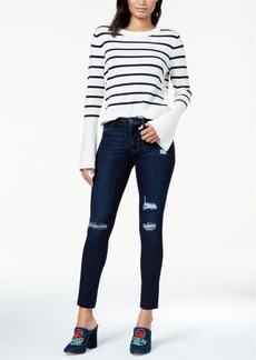 Hudson Jeans Nico Ripped Raw-Hem Skinny Jeans