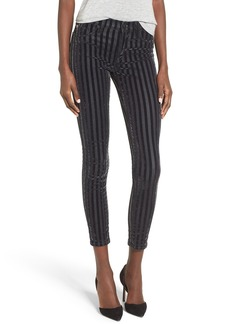 Hudson Jeans Nico Velvet Stripe Ankle Super Skinny Jeans (Linear)