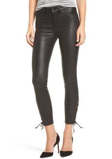 Hudson Jeans Nix High Waist Leather Skinny Pants