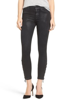 Hudson Jeans 'Nix' Lace-Up Hem Crop Skinny Jeans