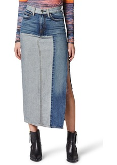 Hudson Jeans Paneled Denim Skirt