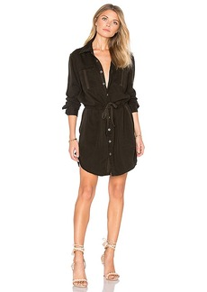 Hudson Jeans Peyton Military Shirt Dress in Army. - size S (also in M,XS)