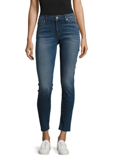 Hudson Jeans Raw Edge Skinny Ankle Jeans