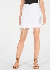 Hudson Jeans Raw-Hem Denim Skirt