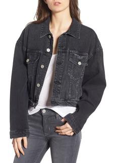 Hudson Jeans Rei Crop Oversize Denim Jacket
