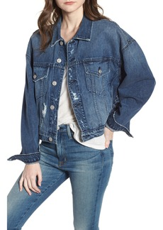 Hudson Jeans Rei Lace-Up Crop Denim Jacket