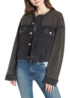 Hudson Jeans Rei Studded Crop Denim Jacket