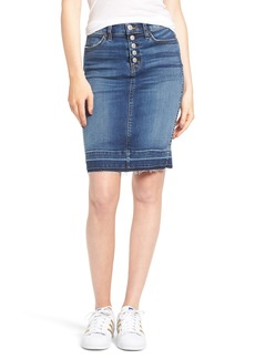 Hudson Jeans Remi High Waist Released Hem Denim Pencil Skirt