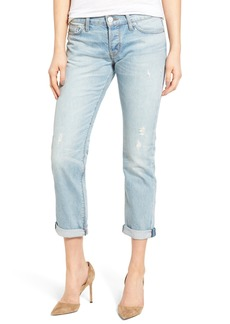 Hudson Jeans Riley Crop Relaxed Straight Leg Jeans