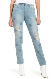 Hudson Jeans Riley Crop Relaxed Straight Leg Jeans (Amplify)