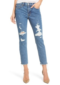 Hudson Jeans Riley Crop Relaxed Straight Leg Jeans (Continuum Destructed)